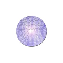 Purple Cubic Typography Golf Ball Marker