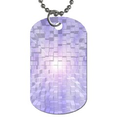 Purple Cubic Typography Dog Tag (two Sided)