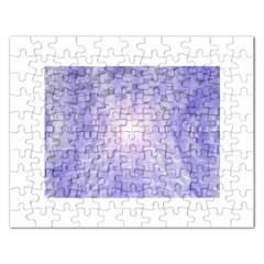 Purple Cubic Typography Jigsaw Puzzle (Rectangle)