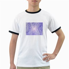 Purple Cubic Typography Mens' Ringer T-shirt
