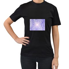 Purple Cubic Typography Womens' Two Sided T-shirt (Black)