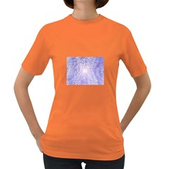Purple Cubic Typography Womens' T-shirt (Colored)
