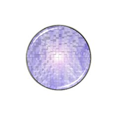 Purple Cubic Typography Golf Ball Marker 4 Pack (for Hat Clip)