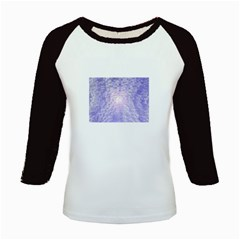 Purple Cubic Typography Women s Long Cap Sleeve T-Shirt