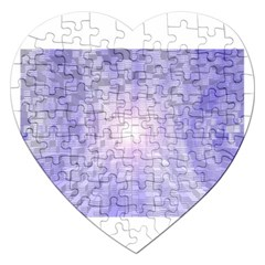 Purple Cubic Typography Jigsaw Puzzle (Heart)