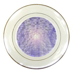 Purple Cubic Typography Porcelain Display Plate