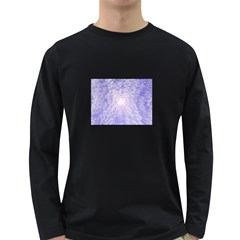 Purple Cubic Typography Mens' Long Sleeve T Shirt (dark Colored)