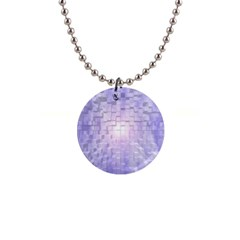 Purple Cubic Typography Button Necklace