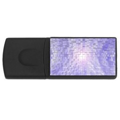 Purple Cubic Typography 4gb Usb Flash Drive (rectangle)