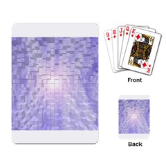 Purple Cubic Typography Playing Cards Single Design