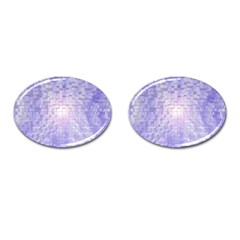 Purple Cubic Typography Cufflinks (Oval)