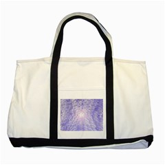 Purple Cubic Typography Two Toned Tote Bag