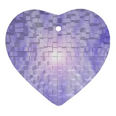 Purple Cubic Typography Heart Ornament (Two Sides)