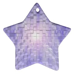 Purple Cubic Typography Star Ornament (Two Sides)