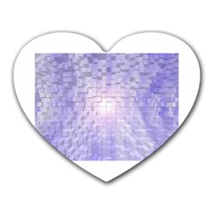 Purple Cubic Typography Mouse Pad (Heart)