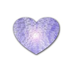Purple Cubic Typography Drink Coasters 4 Pack (Heart)