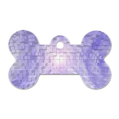 Purple Cubic Typography Dog Tag Bone (Two Sided)
