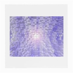 Purple Cubic Typography Glasses Cloth (Medium, Two Sided)