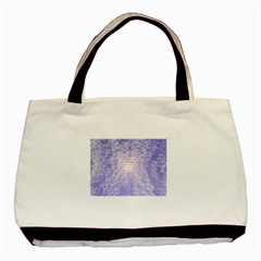 Purple Cubic Typography Twin-sided Black Tote Bag