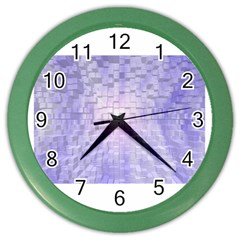 Purple Cubic Typography Wall Clock (color)