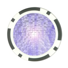Purple Cubic Typography Poker Chip