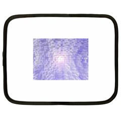 Purple Cubic Typography Netbook Case (large)
