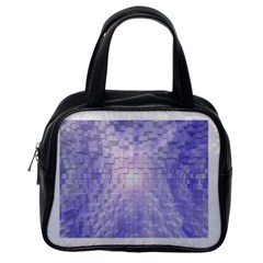 Purple Cubic Typography Classic Handbag (One Side)