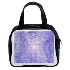 Purple Cubic Typography Classic Handbag (Two Sides)