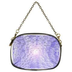 Purple Cubic Typography Chain Purse (One Side)