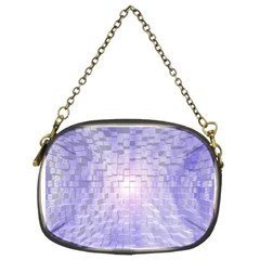 Purple Cubic Typography Chain Purse (Two Side)