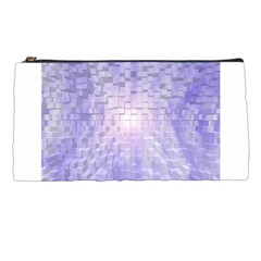 Purple Cubic Typography Pencil Case