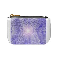 Purple Cubic Typography Coin Change Purse