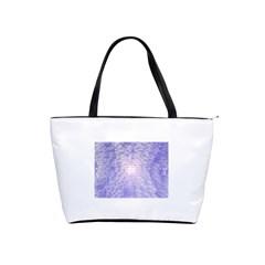 Purple Cubic Typography Large Shoulder Bag