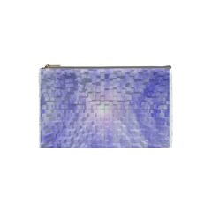 Purple Cubic Typography Cosmetic Bag (Small)
