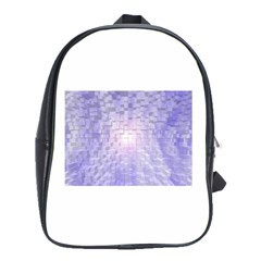 Purple Cubic Typography School Bag (Large)