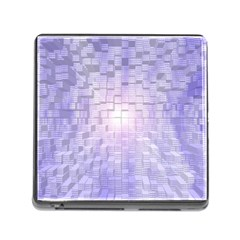 Purple Cubic Typography Memory Card Reader with Storage (Square)
