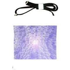 Purple Cubic Typography Shoulder Sling Bag
