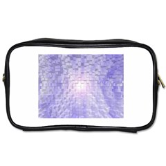 Purple Cubic Typography Travel Toiletry Bag (two Sides)