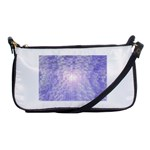 Purple Cubic Typography Evening Bag Front
