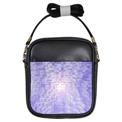 Purple Cubic Typography Girl s Sling Bag