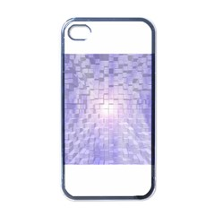 Purple Cubic Typography Apple Iphone 4 Case (black)