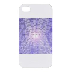 Purple Cubic Typography Apple iPhone 4/4S Hardshell Case