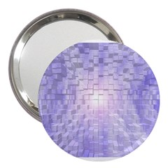Purple Cubic Typography 3  Handbag Mirror