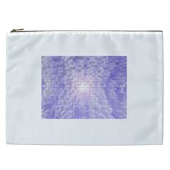 Purple Cubic Typography Cosmetic Bag (xxl)