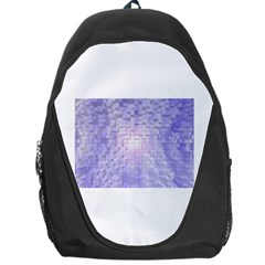 Purple Cubic Typography Backpack Bag
