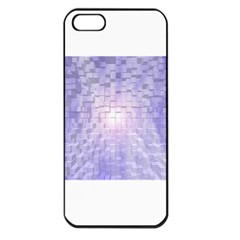 Purple Cubic Typography Apple iPhone 5 Seamless Case (Black)