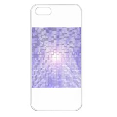 Purple Cubic Typography Apple iPhone 5 Seamless Case (White)