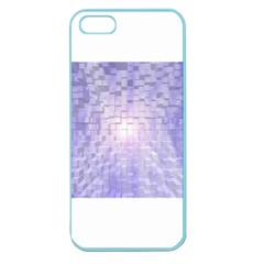 Purple Cubic Typography Apple Seamless Iphone 5 Case (color)