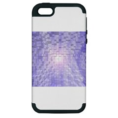 Purple Cubic Typography Apple iPhone 5 Hardshell Case (PC+Silicone)