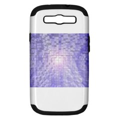 Purple Cubic Typography Samsung Galaxy S Iii Hardshell Case (pc+silicone)